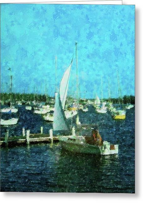 Coconut Grove Sail Greeting Card