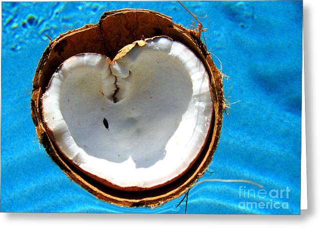 Greeting Card featuring the photograph Coconut Heart by Jaison Cianelli