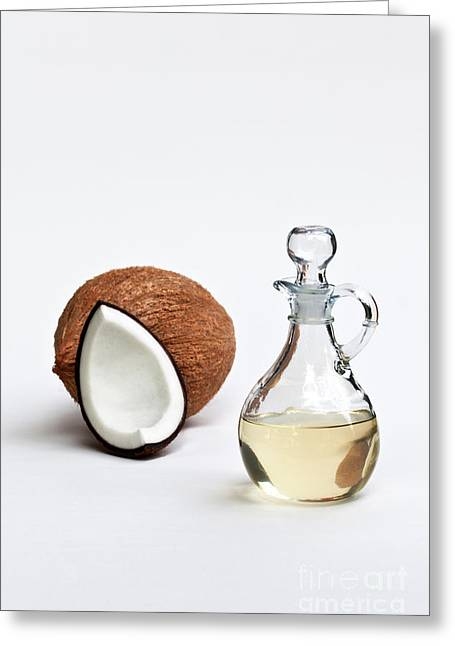 Coconut Oil In Glass Carafe Greeting Card