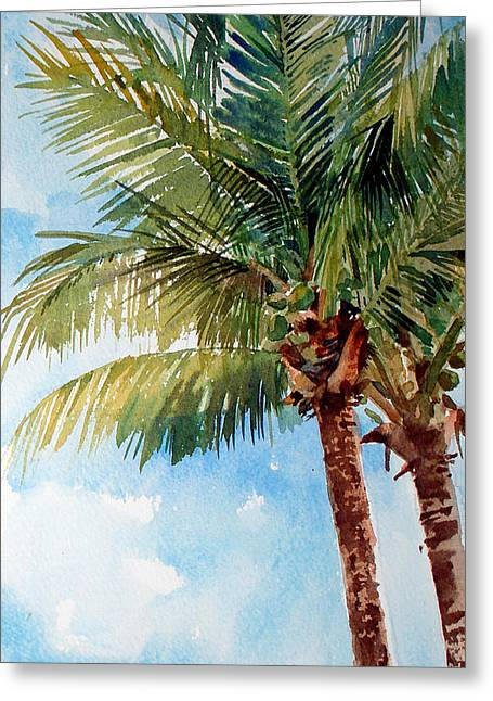 Coconut Palm Greeting Card by Peter Sit