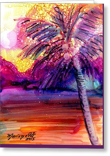 Coconut Palm Tree 2 Greeting Card by Marionette Taboniar