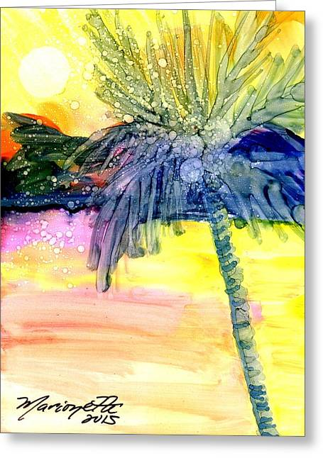 Coconut Palm Tree 3 Greeting Card by Marionette Taboniar