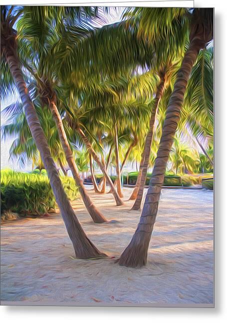 Coconut Palms Inn Beachfront Greeting Card