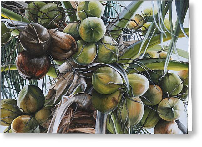 Coconut Profusion Greeting Card by Wendy Ballentyne