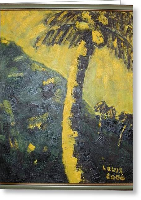 Coconut Tree Greeting Card by Louis  Stephenson