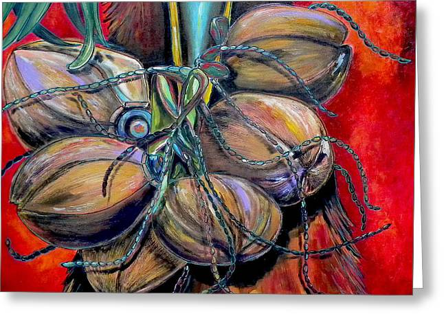 Coconuts Greeting Card by Patti Schermerhorn