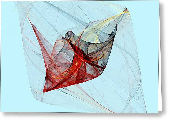 Cocoon Greeting Card by Michi Sherwood