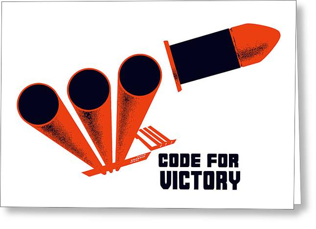 Artillery Greeting Cards - Code For Victory - WW2 Greeting Card by War Is Hell Store