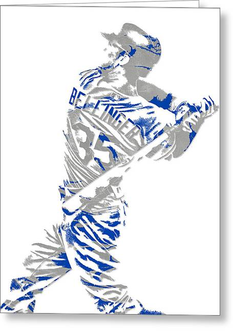 Cody Bellinger Los Angeles Dodgers Pixel Art 2 Greeting Card