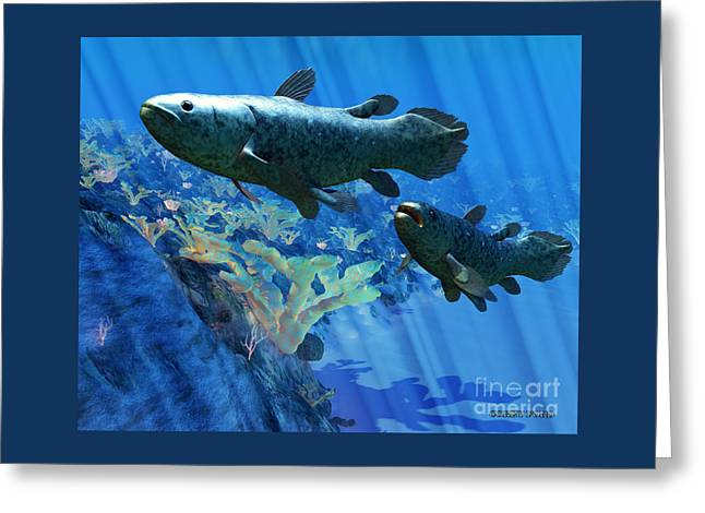 Coelacanth Fish Greeting Card by Corey Ford