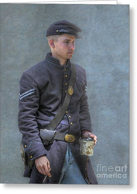 Coffee And A Cigar Union Corporal Civil War Greeting Card