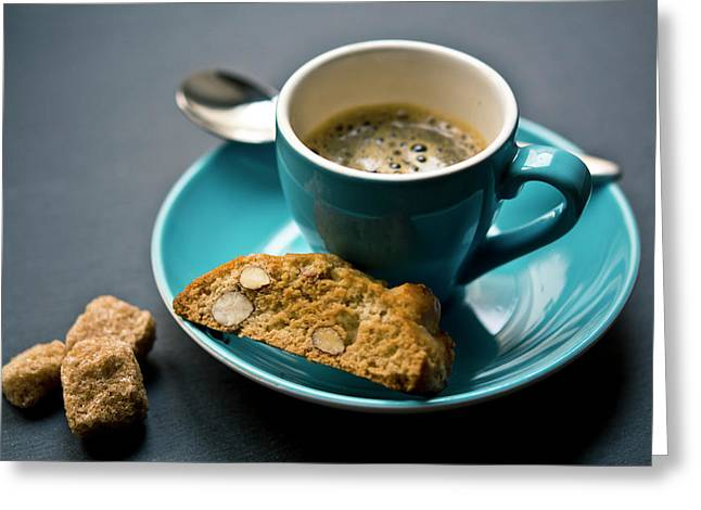 Coffee And Biscotti Greeting Card