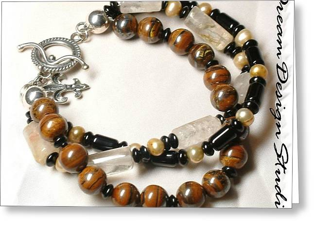 Sterling Silver Bracelet Jewelry Greeting Cards - Coffee and Cream  Greeting Card by Donna  Phitides