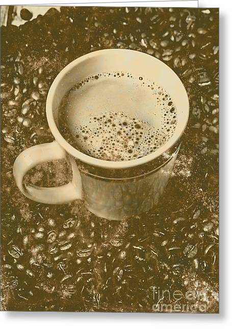 Coffee And Nostalgia Greeting Card by Jorgo Photography - Wall Art Gallery