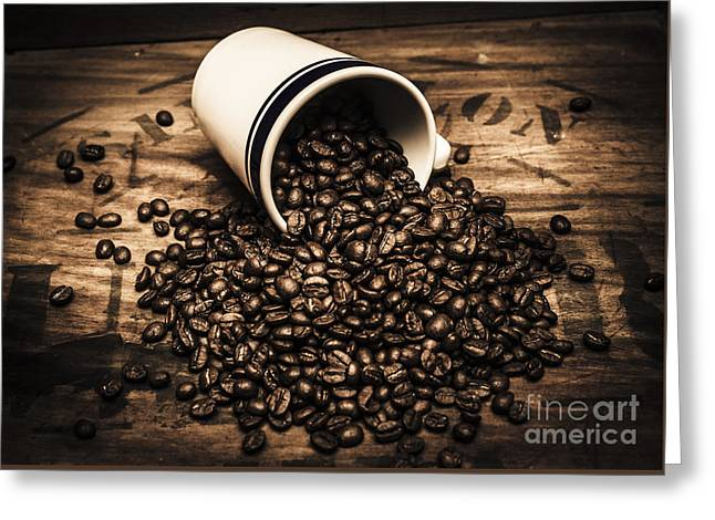 Coffee Bar Advertisement Greeting Card by Jorgo Photography - Wall Art Gallery
