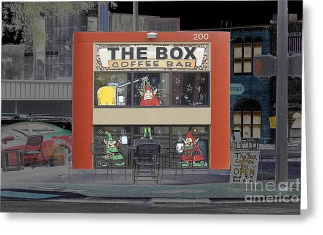Coffee Bar In The Box Greeting Card by Ella Kaye Dickey