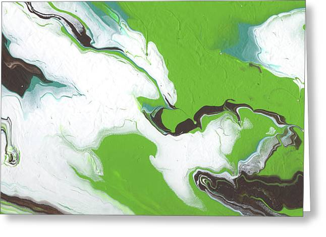 Coffee Bean 1- Abstract Art By Linda Woods Greeting Card