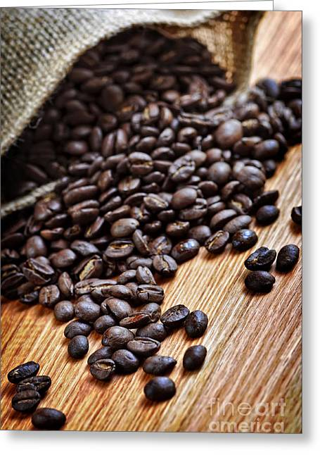 Coffee Beans Greeting Card by Elena Elisseeva