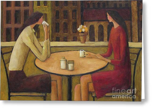 Coffee Break Greeting Card by Glenn Quist