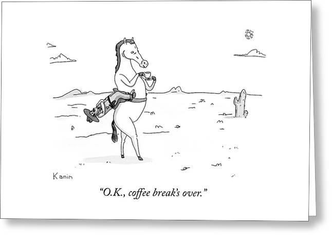 Coffee Break Over Greeting Card