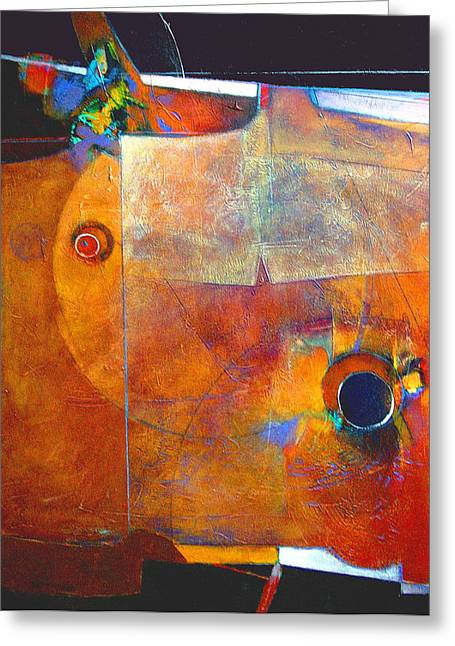Coffee Cup Eclipse Greeting Card by Dale  Witherow