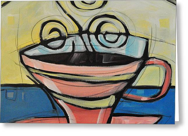 Coffee Cup Four Greeting Card by Tim Nyberg