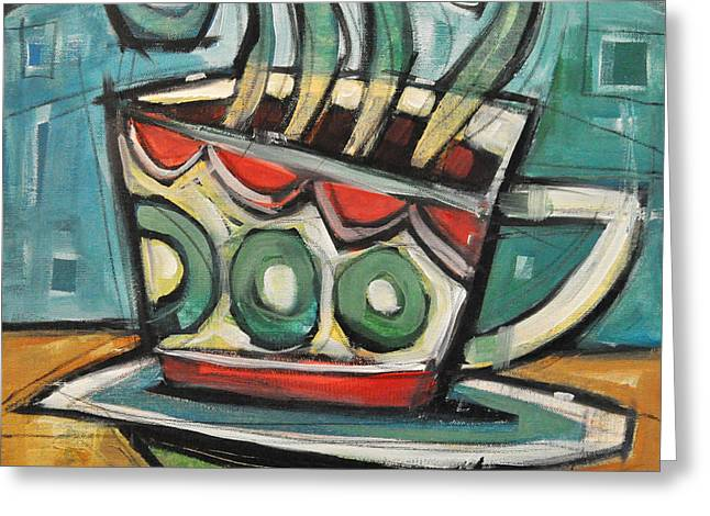 Coffee Cup Two Greeting Card by Tim Nyberg