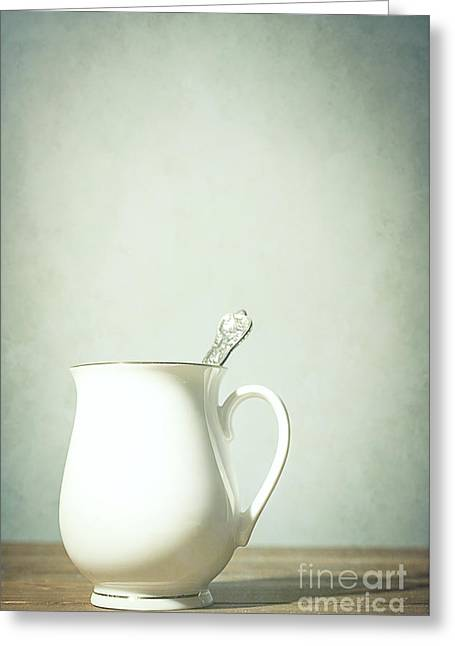 Coffee Cup With Spoon Greeting Card