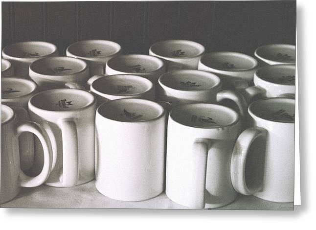 Coffee Cups- By Linda Woods Greeting Card by Linda Woods