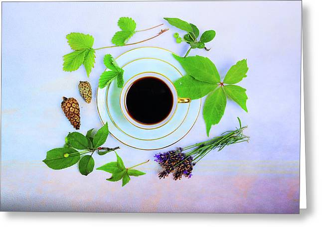 Coffee Delight Greeting Card