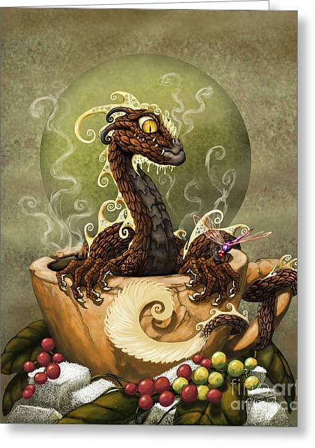 Coffee Dragon Greeting Card