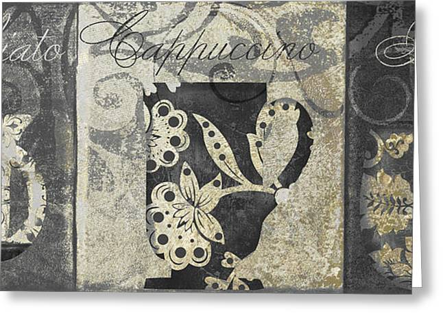 Coffee Flavors Gold And Black II Greeting Card