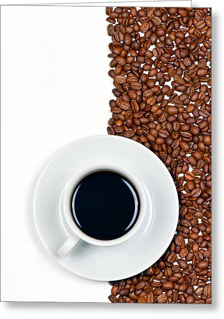 Greeting Card featuring the photograph Coffee by Gert Lavsen