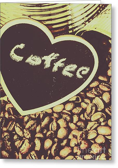 Coffee Heart Greeting Card by Jorgo Photography - Wall Art Gallery
