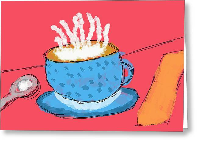 Coffee In A Cup Greeting Card by Skip Nall