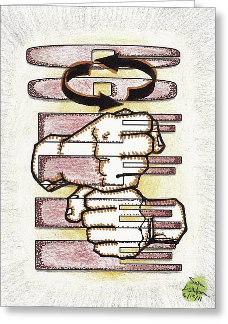 Coffee In Asl Greeting Card by Scott Lightfoot