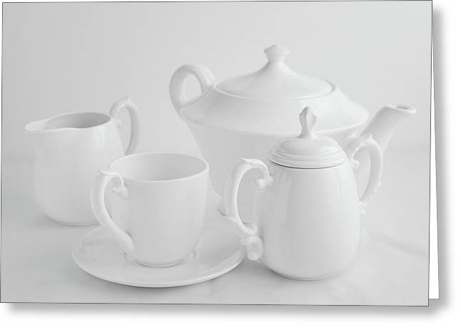 Coffee In White Greeting Card