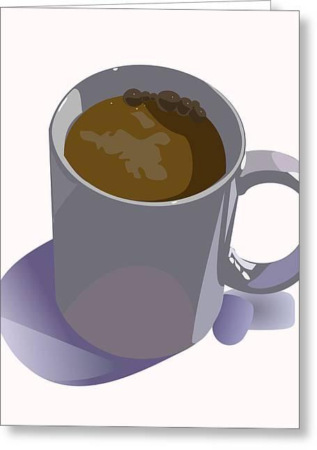 Coffee Mug Greeting Card by Robert Bissett