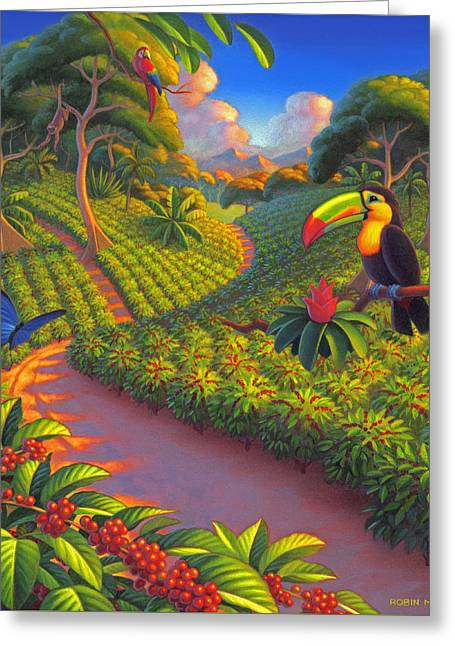 Coffee Plantation Greeting Card