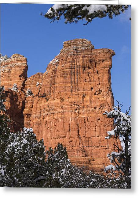 Greeting Card featuring the photograph Coffee Pot Rock by Laura Pratt
