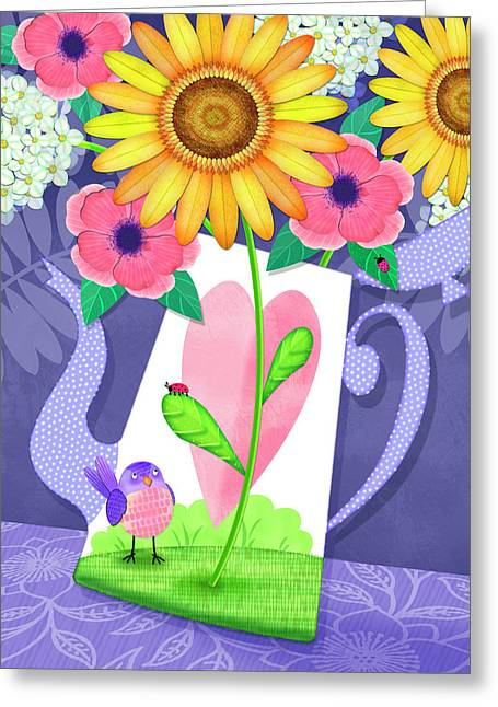 Coffee Pot Surprise Greeting Card