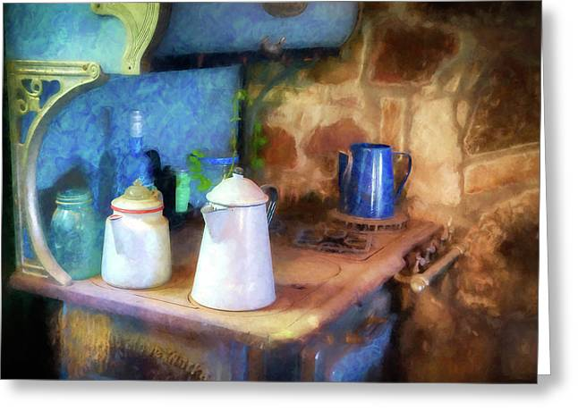 Coffee Pots Greeting Card
