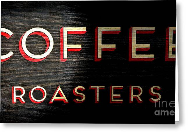 Coffee Roasters Greeting Card by Olivier Le Queinec