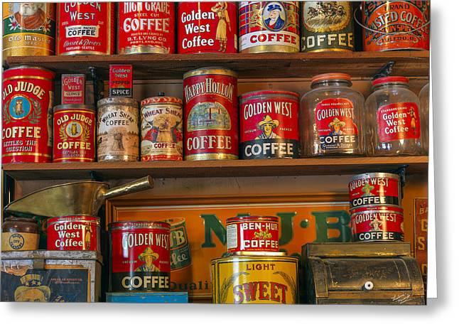 Coffee Shelf Greeting Card