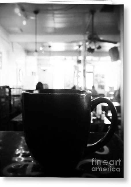 Greeting Card featuring the photograph Coffee Shop by Utopia Concepts