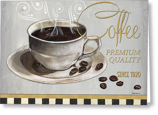 Coffee Shoppe 1 Greeting Card by Debbie DeWitt