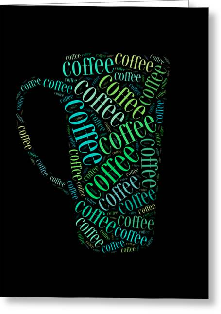 Coffee Time Greeting Card by Bill Cannon