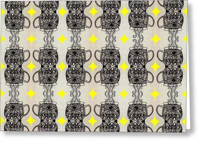 Coffee Time Patttern Greeting Card