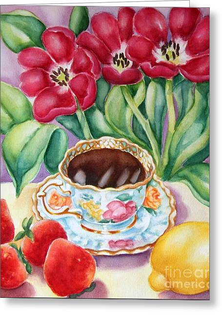 Coffee With Flavour Greeting Card