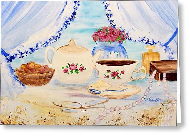 Coffee With Grandma Greeting Card